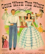 VINTAGE UNCUT 1940 GONE WITH THE WIND PAPER DOLLS~#1 REPRODUCTION~FABULOUS/RARE! - $19.99