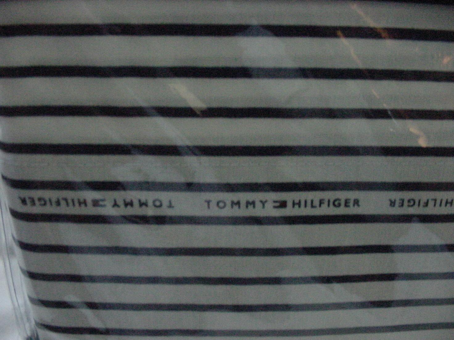 Tommy Hilfiger Navy Stripe on White Sheet Set Twin XL