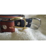 """Handmade Amish Leather Belt in Brown Choice of Rounded Buckle 1 1/2"""" width - $39.00"""