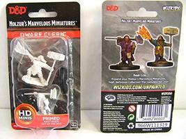 WizKids D&D Nolzurs Marvelous Upainted Miniatures: Wave 11: Male Dwarf Cleric - $6.69