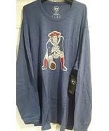 NFL New England Patriots Men's Retro T-Shirt Long Sleeve Vintage Logo 3... - $27.67