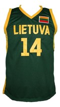 Jonas Valanciunas Lithuania Basketball Jersey New Sewn Green Any Size image 4