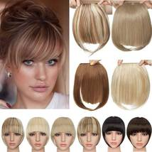 100% Natural Thin Bangs Fringe Clip in Hair Extensions Front Bangs