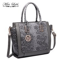 Miss Lulu Women Snake Skin Shoulder Handbag Serpentine PU Leather Top-ha... - $111.00