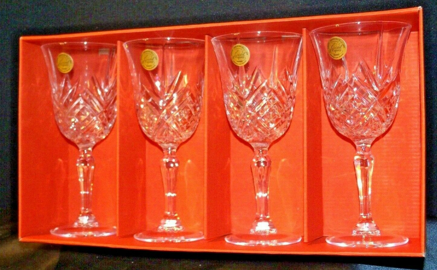 Collections Cristal d'Arques Masquerade Set of 4 Goblets AA19-CD0047 Vintage