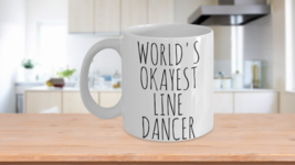 Worlds Okayest Line Dancer Mug Funny Gift Idea Country Western Birthday ... - $14.65+
