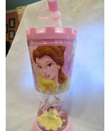 WDW DISNEY Princess Belle Tumbler with Snow Globe and Flex Straw Brand New - $9.99