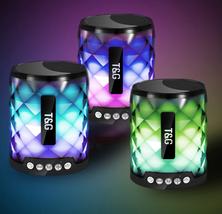 TG Colorful Led Bluetooth Speaker Portable Outdoor Bass Loudspeaker - $38.41 CAD