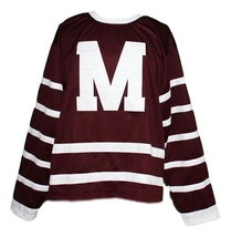 Custom # Montreal Maroons Retro Hockey Jersey New Maroon Any Size image 1