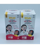 2 Dr Kids Children's Pain & Fever Oral Solution 20 Vials Each 40 Total 0... - $19.79