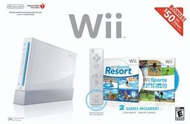 Wii Bundle with Wii Sports & Wii Sports Resort - White [video game] - $129.00