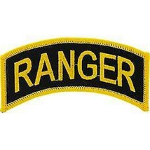 ARMY RANGER TAB ROCKER EMBROIDERED MILITARY PATCH - $16.14