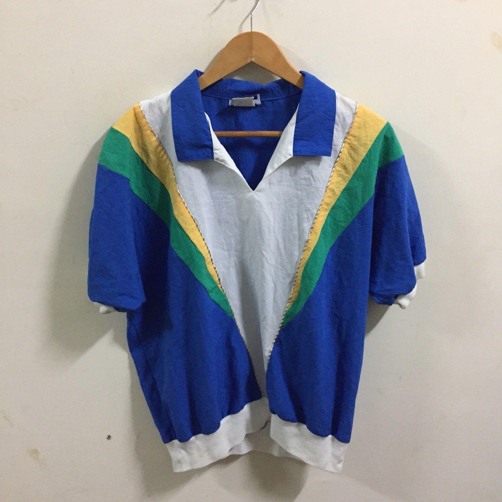 VTG 90's Gape God Tops T-Shirt SZ L ColorBlock  Rare Made In USA image 3