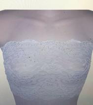 Ally Rose Damen Weiß Stretch Spitze Zylinder Unterhemd Bandeau Tube Top ... - $16.98