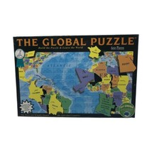 The Global Puzzle Jigsaw 600 Pieces Learn the World Geography New Sealed - $29.99
