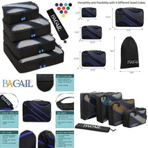 4 Set Packing Cubes,Travel Luggage Packing Organizers With Laundry Bag O... - £18.72 GBP