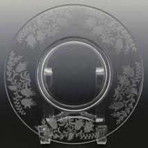Tiffin Fuchsia Elegant Glass Plate Luncheon Plates a set of 8 image 8