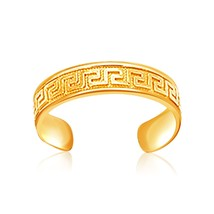 Womens Girls Real Solid 14k Yellow Gold Labyrinth Motif Toe Ring Fashion Jewelry - $127.16