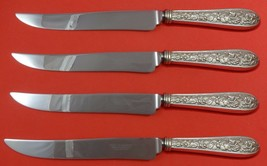 Corsage by Stieff Sterling Silver Steak Knife Set 4pc Large Texas Sized Custom - $289.00
