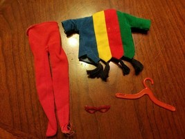 Vintage Ideal Tammy Pizza Party Outfit Incomplete Rainbow - $18.75