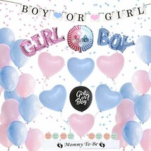 Gender Reveal Party Supplies 72 Piece / Boy or Girl Baby Shower Confetti... - $30.78