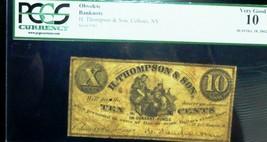 1862 10C (CENTS) . H . THOMPSON & SON  ,COHOES ,NEW YORK - SCARCE ,HARD ... - $395.01