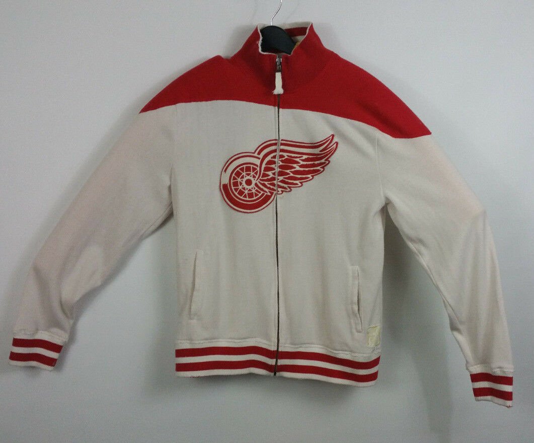 Primary image for NHL Reebok Retro Sport XL DETROIT RED WINGS Distressed Zip Up Sweatshirt XLarge