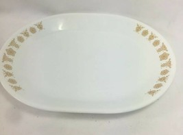 Corelle Butterfly Gold Serving Platter 12 X 10 Inches, Euc - $9.89
