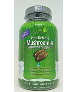 Irwin Naturals Pure Defense Mushroom-8 Immune Support 60 Black Elderberr... - $14.84