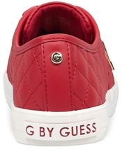 G by Guess Women's Backer2 Lace Up Leather Quilted Pattern Sneakers Shoes Red image 3