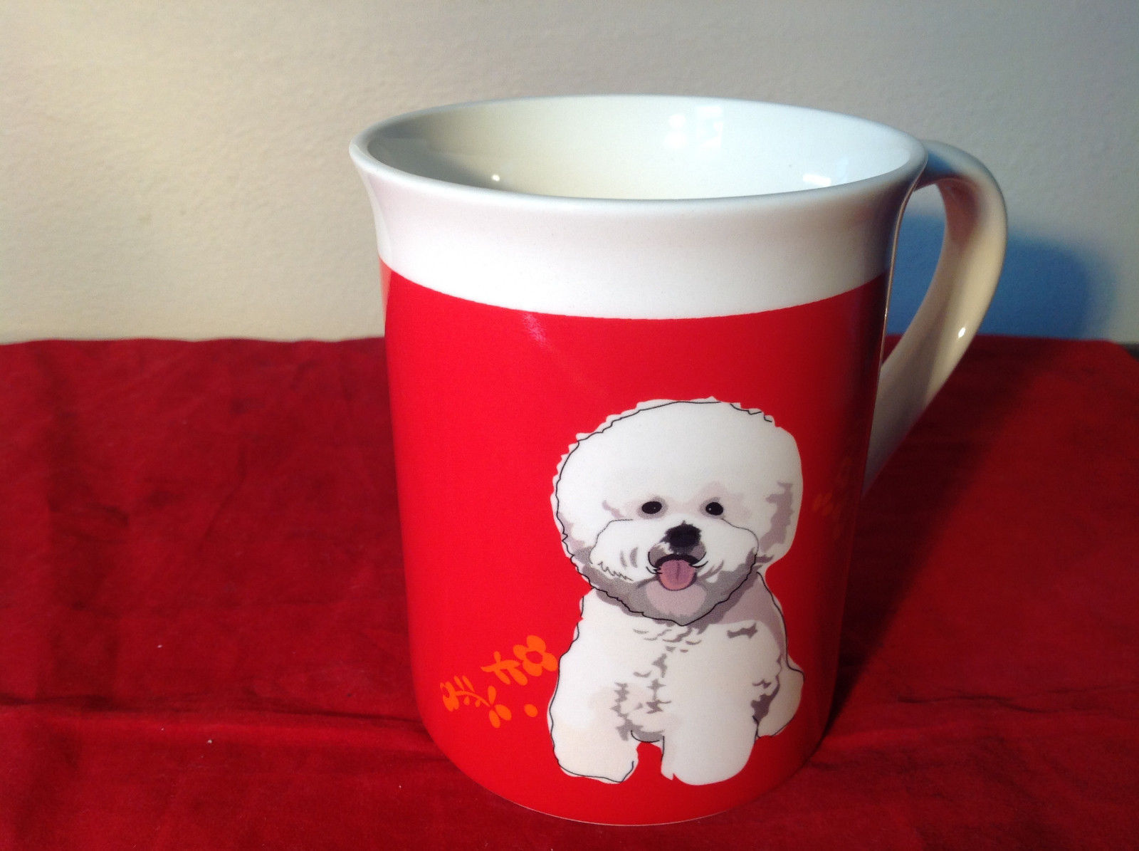 Go Dog Bichon Mug by Paper Russells w Original Box 16 ounces Department 56