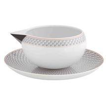 Vista Alegre Porcelain Maya Sauceboat & Stand - $114.95