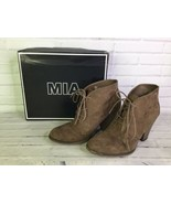MIA Womens Size 10 Shawna Nova Faux Suede Ankle Fashion Boots Booties TAUPE - $19.79