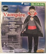 VAMPIRE Halloween Costume - Boys XL (14-16) NEW Cape, Pants Top - $12.94