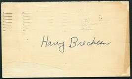 HARRY BRECHEEN SIGNED 1948 GOV'T POSTCARD ST LOUIS CARDINALS BROWNS 3X W... - $13.85