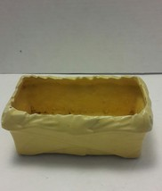 Vintage McCoy Small Yellow Rectangular Planter Made in the USA - $19.34
