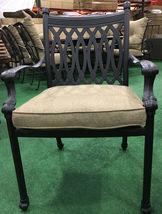 Patio dining chairs set of 6 cast aluminum furniture Tuscany sunbrella cushions image 3