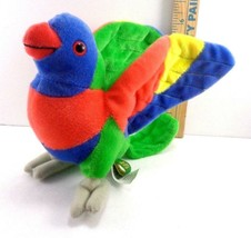 Wild Republic Plush Lorikeet Parrot Bird Stuffed Animal Toy Blue Red Green - $15.83