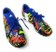 Adidas Nemeziz Messi 19.3 Turf Soccer Shoes, Royal Blue/Silver/Yellow, S... - $68.59