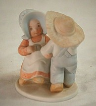 Circle of Friends Bisque Figurine Masterpiece HOMCO Thou Turned Mourning... - $21.77
