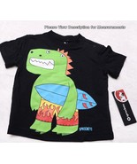 SPROCKETS 24M Boys Black T Shirt Easy Snap Shoulder NEW Dinosaur NWT - $12.99