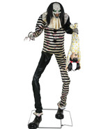 7-Ft Animated SWEET DREAMS CLOWN with KID LED Talking Halloween Prop Dec... - $237.49