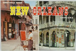 New Orleans City of Enchantment Post Card 1960's Photochrome Louisiana L... - $4.49