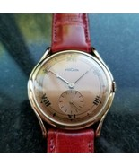 Men's Vulcain 18k Rose Gold 36mm Manual Wind Dress Watch, c.1960s LV856 - $3,029.40