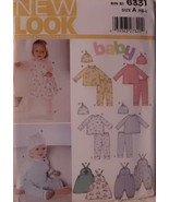 New Look 6331 Pattern Boys Girls Romper Play Set Easy Dress NB to Large ... - $10.00