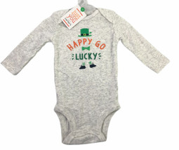 Carters Just For You St Patricks Day One Piece Romper Happy Go Lucky Siz... - $10.94