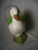 Handmade Easter White Duck by Christopher James in Paper Mache image 3