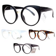 SA106 Womens Round Circle Lens Cat Eye Clear Lens Eye Glasses - $9.95