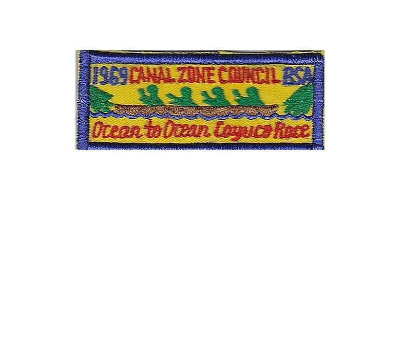 Boy Scouts of America BSA Canal Zone Cayuco Race 1969 Panama 1.5 x 3.75 inches - $9.99