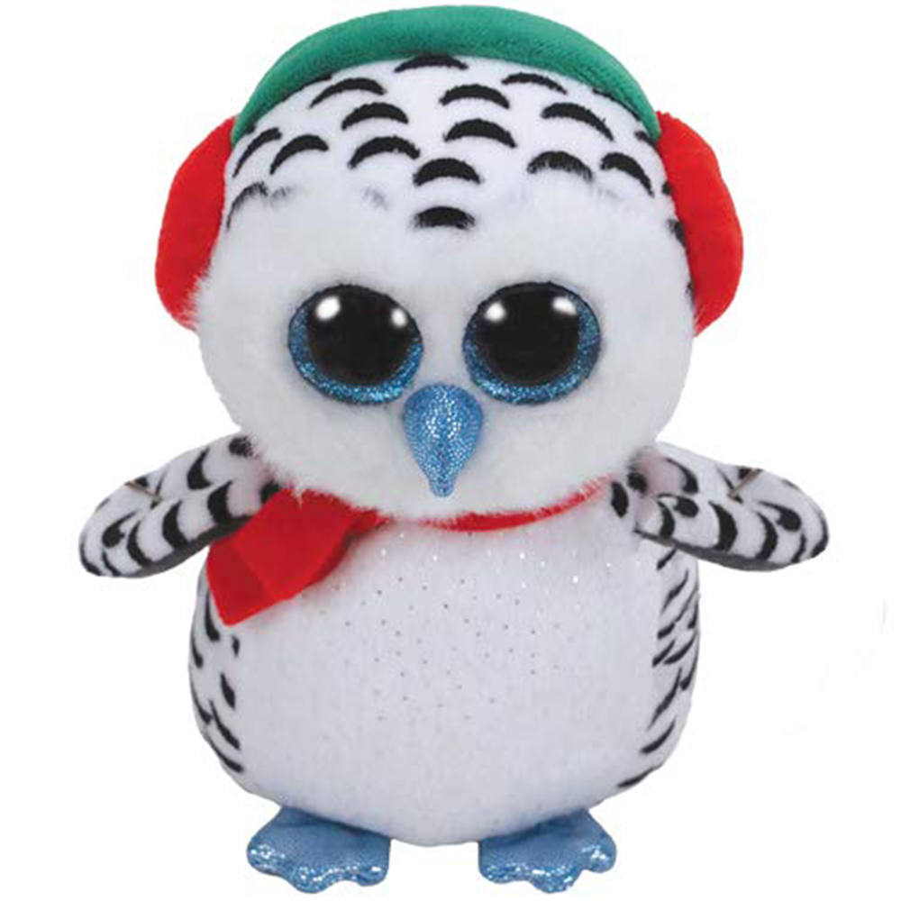 "Pyoopeo Original Ty Boos 6"" 15cm Nester the Christmas Owl Plush Regular Stuffed"